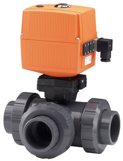 3-Way-Ball Valve with electric actuator Type 185-188